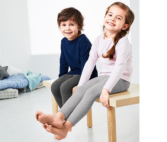 Ciepłochronne legginsy dziecięce, 2 pary