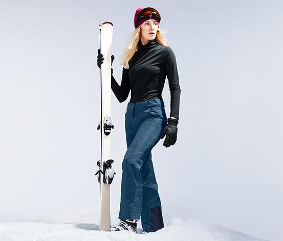 Módní lyžařské kalhoty v džínovém vzhledu