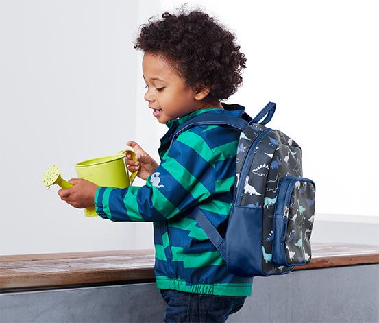 Gyerek hátizsák, kék, dínós