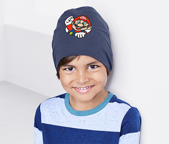 Bonnet en jersey «Super Mario»