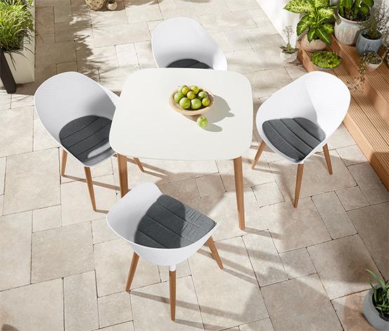 Stół ogrodowy z białym blatem