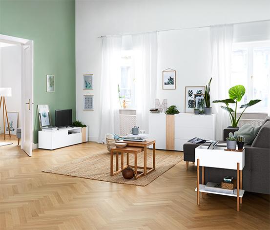 Televizní skříňka s přihrádkou na rostliny