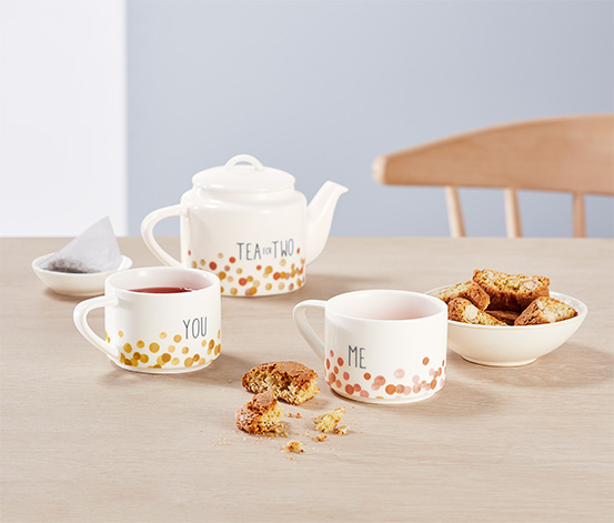 Kanvica na čaj s 2 šálkami