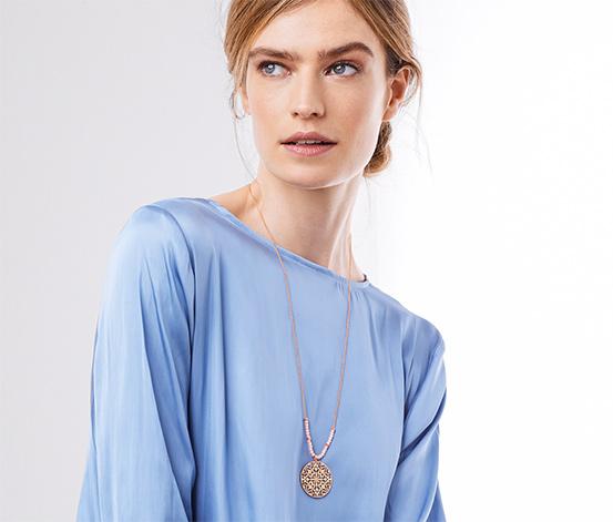 Ornamentálny náhrdelník, pozlátený ružovým zlatom