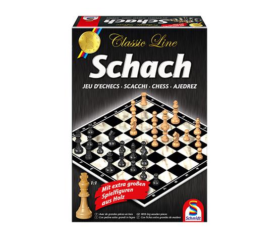Schmidt Spiele Classic Line – Schach mit extragroßen Spielfiguren