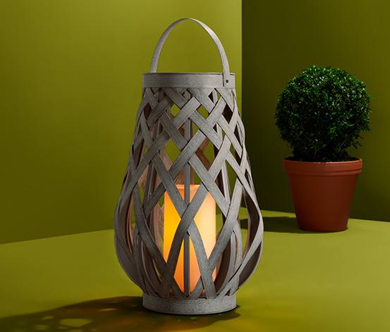LED-Outdoor-Laterne, Geflecht