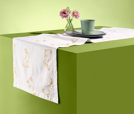 Bawełniany bieżnik na stół, ok. 40 x 180 cm