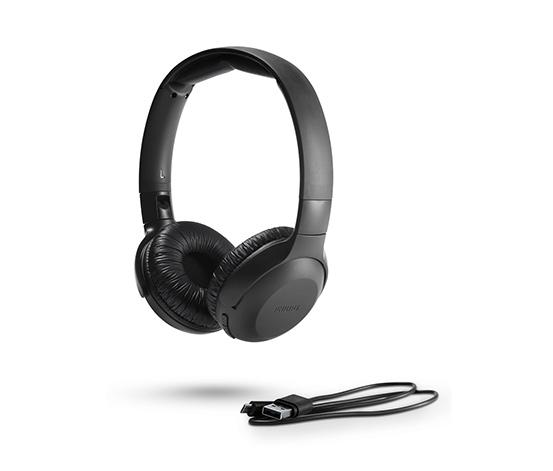 Bezprzewodowe słuchawki nauszne Philips-UpBeat »UH202BK«