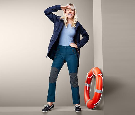 Granatowe spodnie żeglarskie