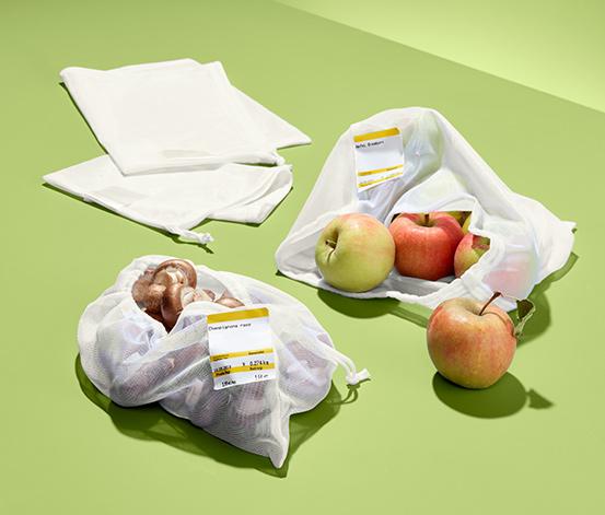4 gyümölcs- és zöldségtároló háló szettben