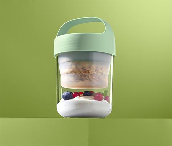 Pojemnik na żywność ok. 400 ml, z silikonową wkładką