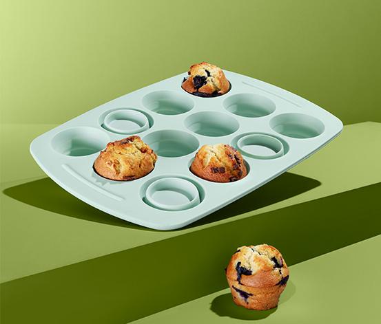 Silikonowa forma do muffinów, miętowa