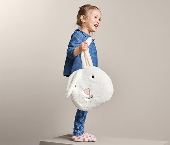 Plyšový polštářek ve tvaru zajíčka