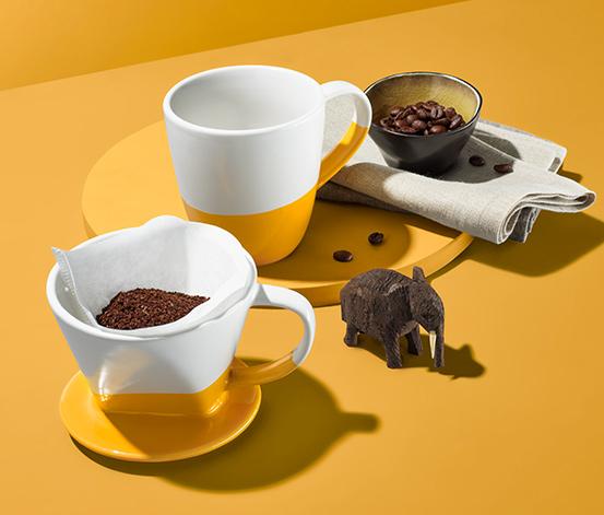 Tasse à café et filtre