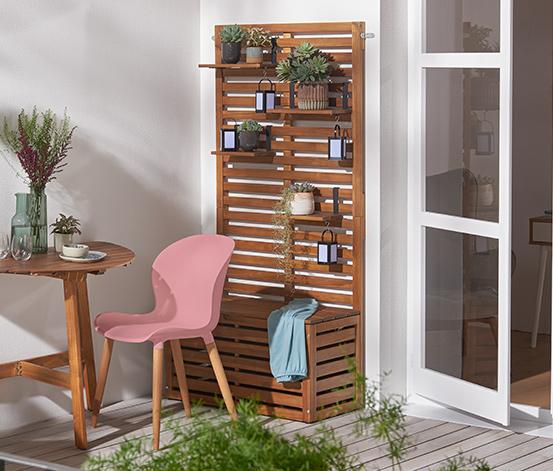 Balkonová lavička s funkcí zástěny