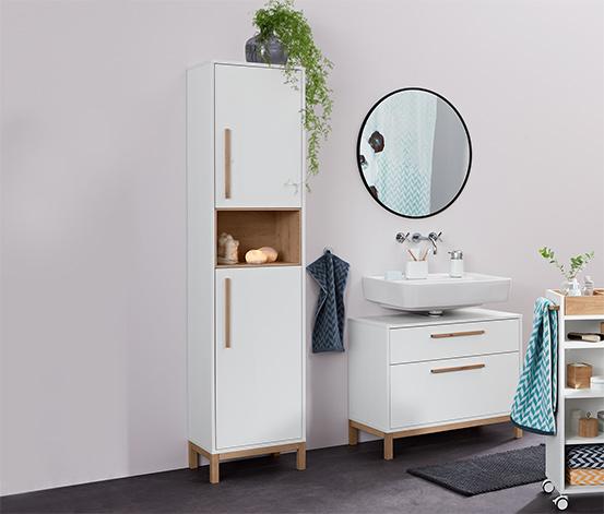 Fürdőszobai szekrény, fehér