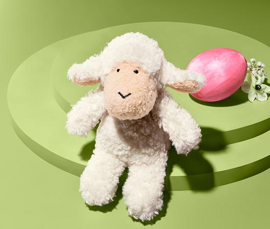 Malá plyšová ovečka so zvukom