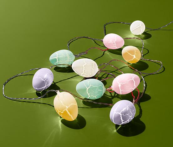Łańcuch świetlny z 10 diodami LED - dekoracyjnymi jajkami