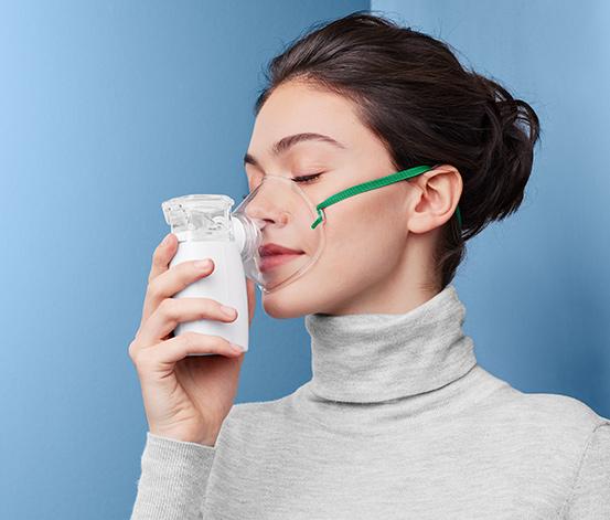 Inhalator ultradźwiękowy z maskami dla dorosłych i dzieci