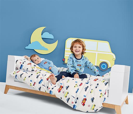 Baby- und Kleinkindbett, blau