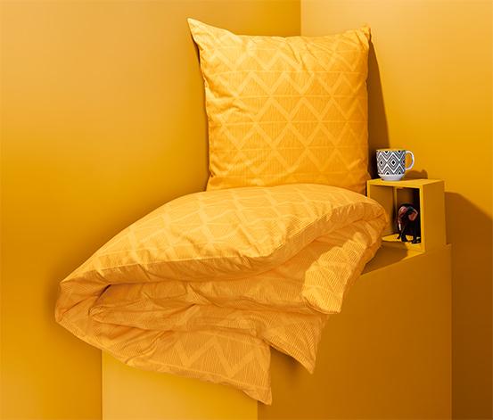 Pościel ze wzmocnionej bawełny ok. 135 x 200 cm, żółta