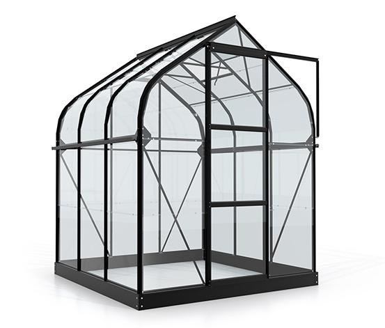 Vitavia-Gewächshaus »Orion ESG 3800«, Einscheibensicherheitsglas, schwarz