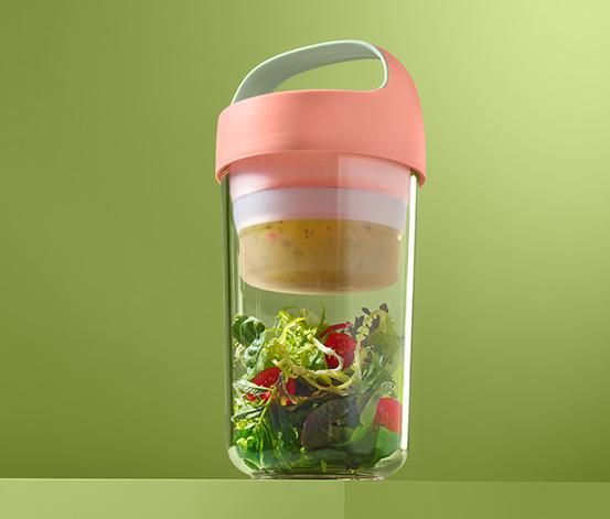 Pojemnik na żywność ok. 600 ml, z silikonową wkładką