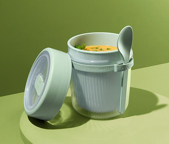 Pojemnik na zupę, z łyżką