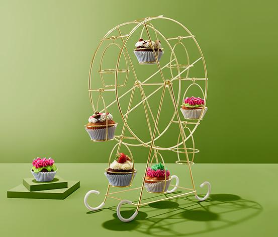 Dekoracyjna karuzela na babeczki i muffiny