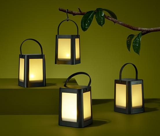 Lampáše s LED, 4 ks