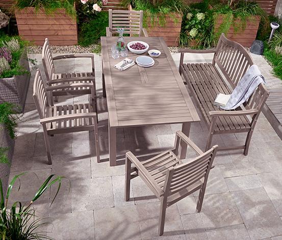 Chaise de jardin, gris vintage