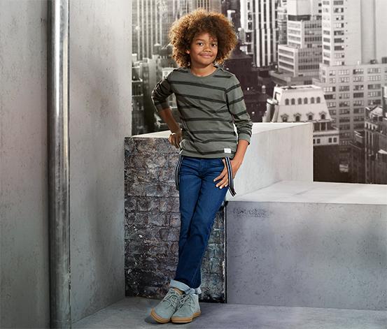 Fiú velúrbőr sneaker cipő