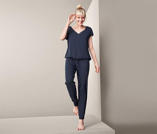 Piżama damska 2-częściowa: koszulka z krótkim rękawem i długie spodnie