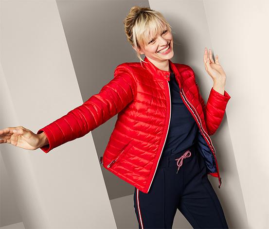 Női steppelt dzseki, piros