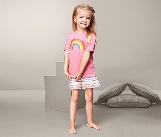 Dziecięca piżama z koszulką z krótkim rękawem i szortami