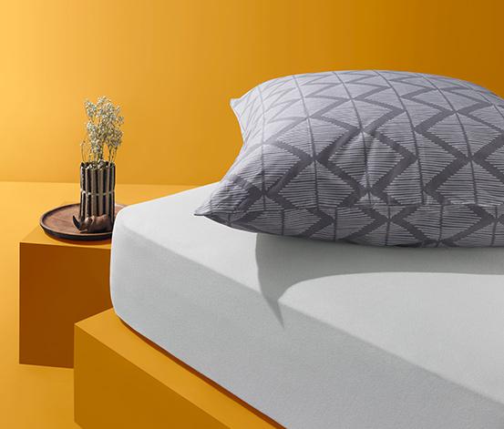 Szare bawełniane prześcieradło z dżerseju z gumką, na materace od 90 x 190 do 100 x 200 cm