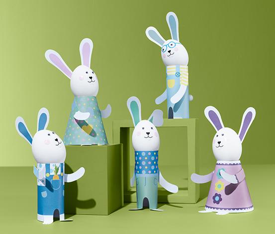 Velikonoční kreativní sada Zaječí rodina