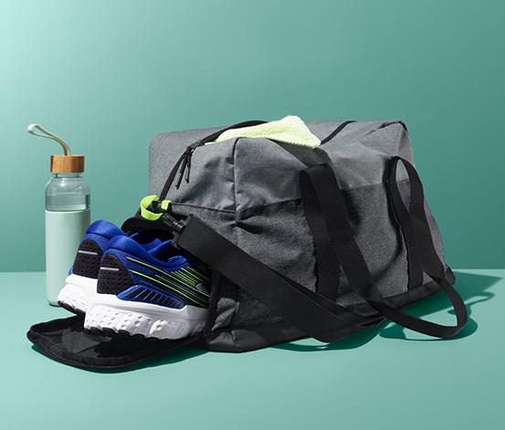 Wygodna torba sportowa z oddzielną przegrodą na buty