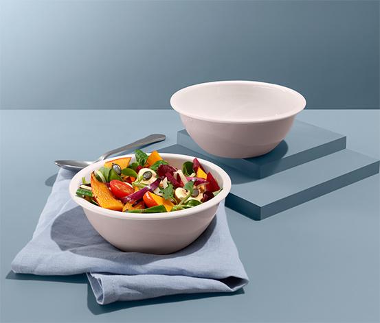 Emaliowane salaterki, 2 sztuki
