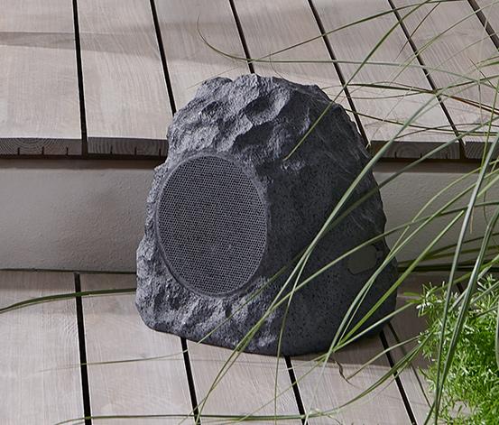 Záhradný reproduktor s Bluetooth® vo vzhľade kameňa