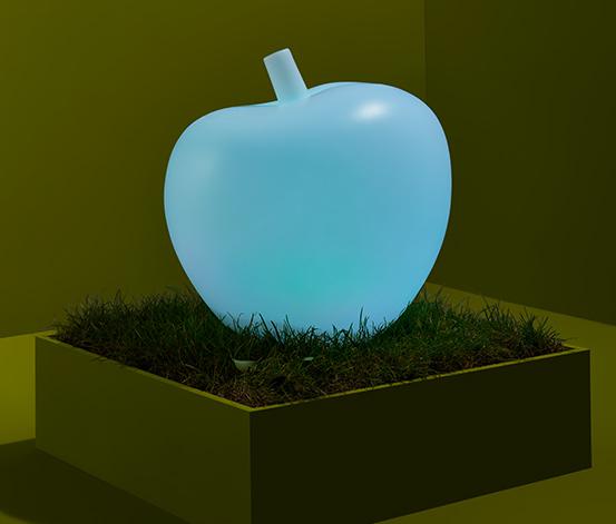 Solar Leuchte »Apfel« mit Farbwechsel