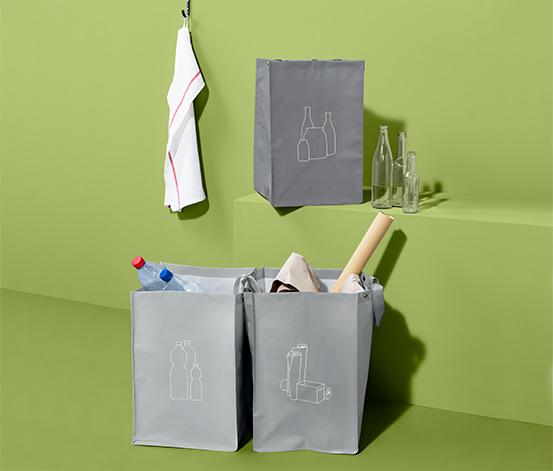 3 Recycling-Abfall-Sortiertaschen