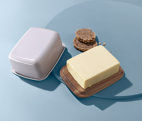 Smaltovaná dóza na maslo