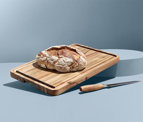 Deska do krojenia z drewna akacjowego z certyfikatem FSC®