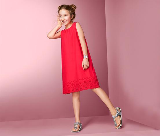 Bawełniana sukienka z ażurowym haftem