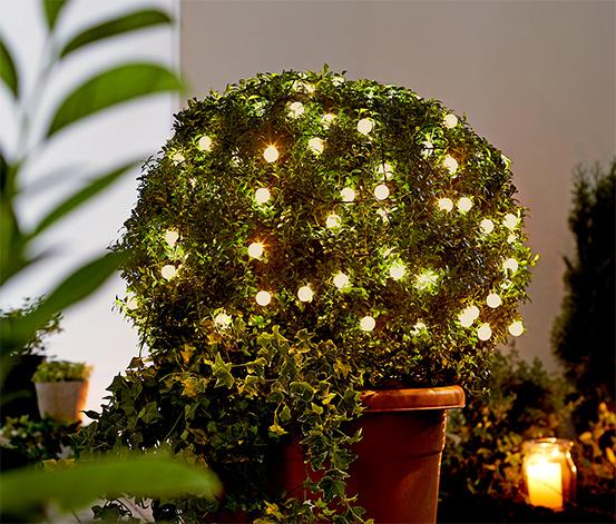 LED-es kültéri égősor, gömb, 120 LED, 17m