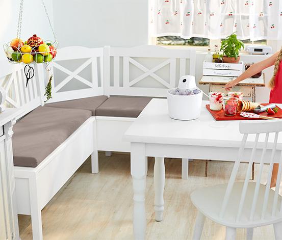 Sarok étkezőpad, fehér