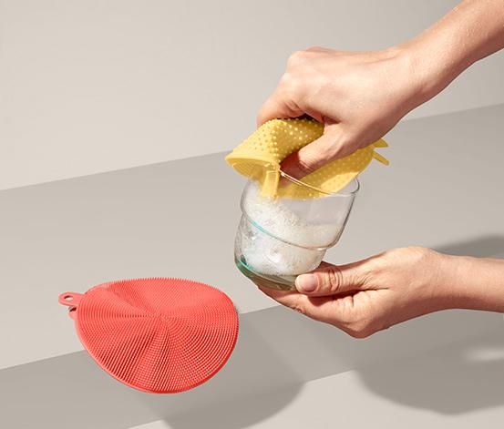 Zestaw 2 silikonowych zmywaków do naczyń