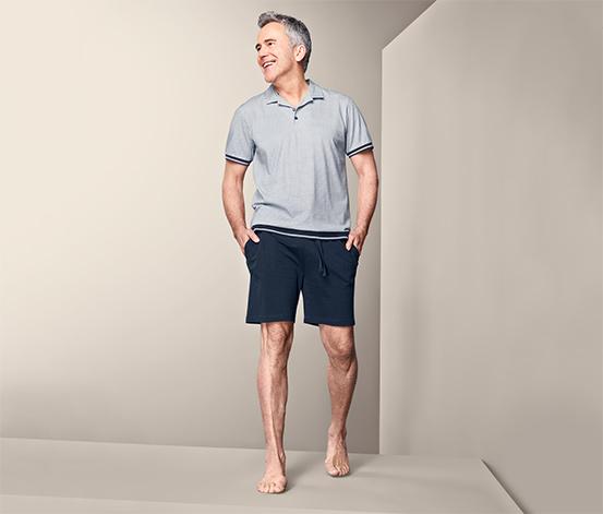 Férfi rövidnadrágos pizsama, szürke