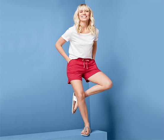 Női jersey rövidnadrág, piros